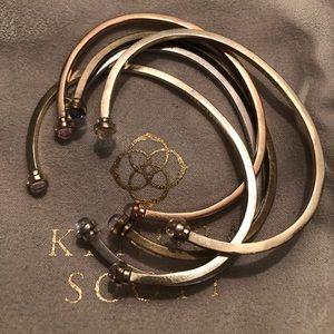 Kendra Scott mixed bangles